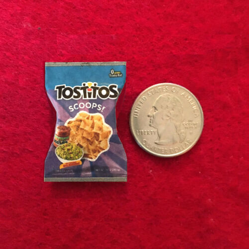 """1:6 Handmade miniature toy for 11/""""-12/"""" fashion dolls Tostitos Scoops bag"""