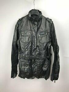 Barbour-Women-039-s-Duralinen-Tartan-International-Black-Jacket-Coat-US12-UK16-42