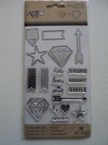 ART C STAMP /& CUT DIAMOND SHINE BRIGHT SET BNIP *LOOK*