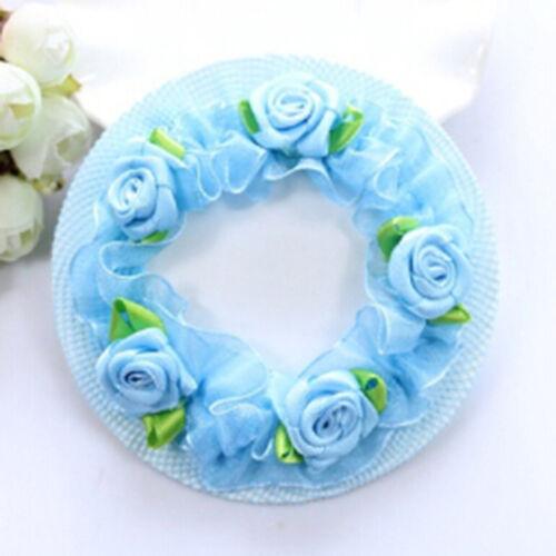 Cute flower girl bun mesh for hair for baby bun net bun cover accessories@9ZN