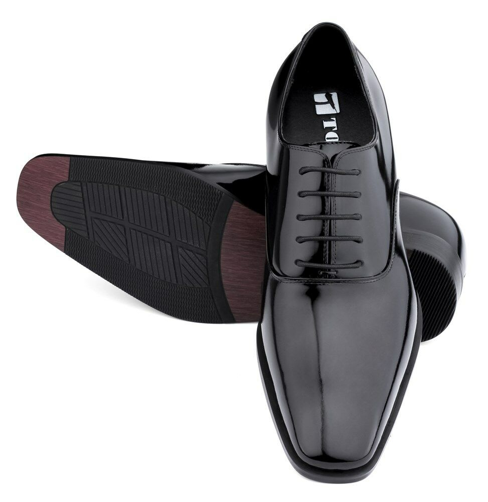 TOTO H6532B - 3 Inches Elevator Height Height Height Increase Patent Leather Dress Oxfords 1bcafc
