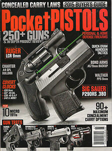 Lot of 2 concealed carry handguns magazine self defense buyers.