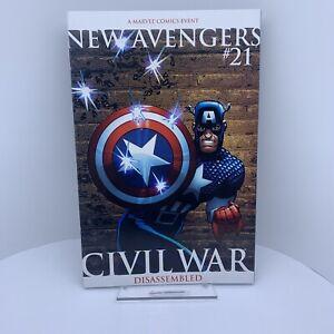 NEW AVENGERS #21 2ND PRINT MARVEL COMICS CIVIL WAR CAPTAIN AMERICA 2006