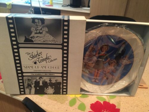 "Nostalgia Shirley Temple Collection ""Stand Up And Cheer"" Plate Mint Condition"