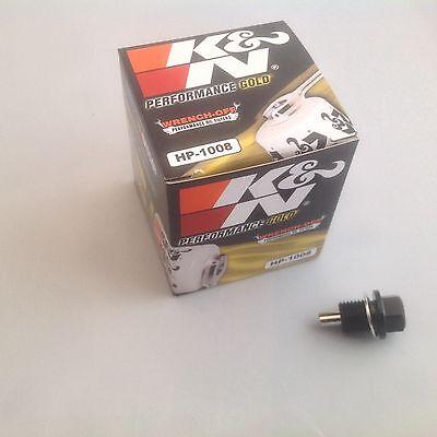 Aggressivo Mitsubishi 3000gt 3.0l K&n Filtro Olio + Tappo Magnetico Coppa Dell'olio-