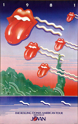 The Rolling Stones American Tour 1st Original 1981 Authentic Promotion Poster