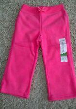 NWT Jumping Beans Toddler Girls 24 MONTHS Pink Fleece Pants NEON PINK New