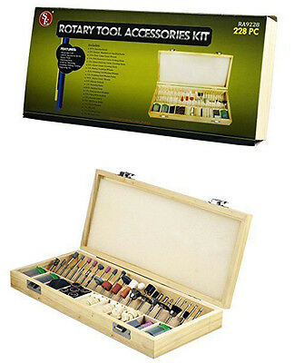 228-Piece Rotary Tool Accessories Kit ab4223-s RA9228 Free Shipping New