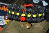 Reflective Firefighter Fire Rescue Bunker Turnout Gear 550 Paracord Bracelet