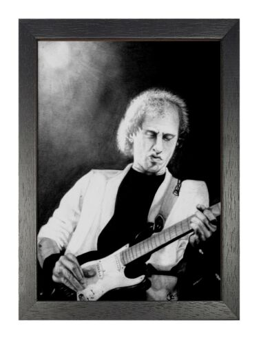 Dire Straits 3 Photo Rock Band Metal Guitar On Stage Black White Music Poster