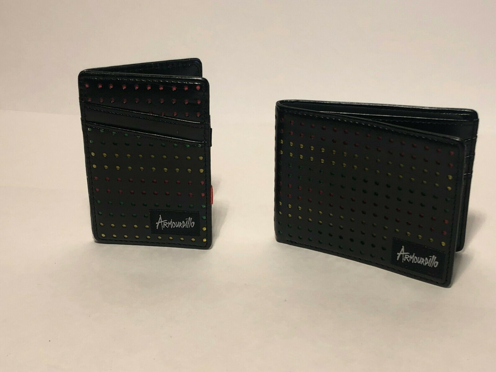 New Men's Two Piece Bi-Fold Wallet/Cardholder Set-ARMOURDILLO Raggae-Lightweight