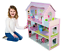 "Wooden 25/"" Dolls House 3 Story Pink Mansion Furniture fits Barbie Dollhouse NEW"