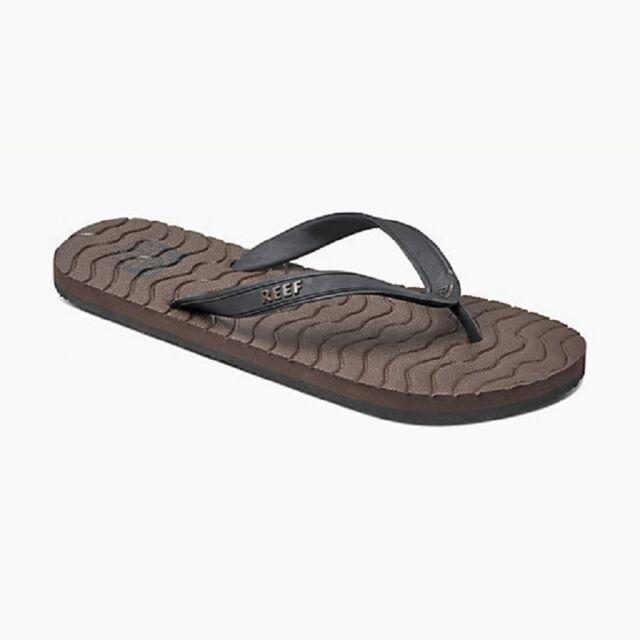 Men Reef Phantom Prints Flip Flop Sandal RF2036 Tan Plaid 100/% Original New