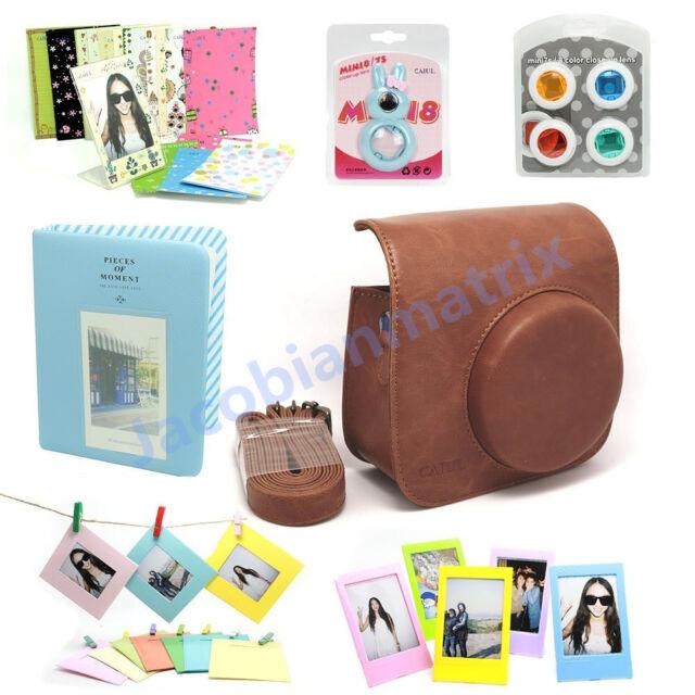 Gmatrix Fujifilm Instax Mini 8 Case Bag Accessory Bundle Set Best Gift Brown