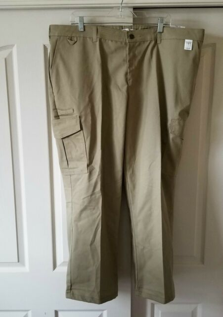 602c1065b1b Dickies Women 18W Relaxed Fit Straight Leg Server Cargo Pants Khaki FPW537