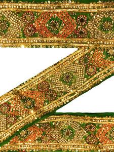 Vintage Sari Border Decorative Trim Indian Sewing Sari Lace Sold By 1 Yd ST1410