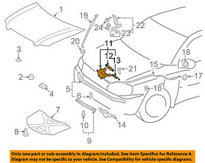 2003 toyota highlander hood latch