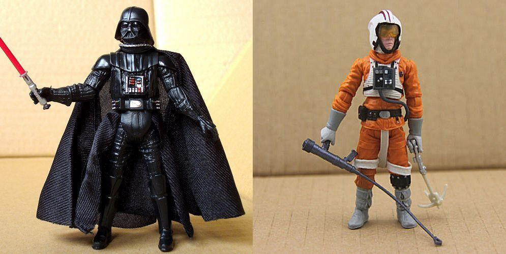 Figurine StarWars : Duo de figurines - Dark Vador & Luke Skywalker - Star Wars/La Guerre des étoiles