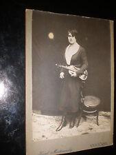 Old cabinet photograph woman violin by Mastinovsky Vysocany Czech republic 1890s