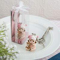 75 Baby Girl Key Chain Pink Vintage Favor Baby Shower Christening Event Gift