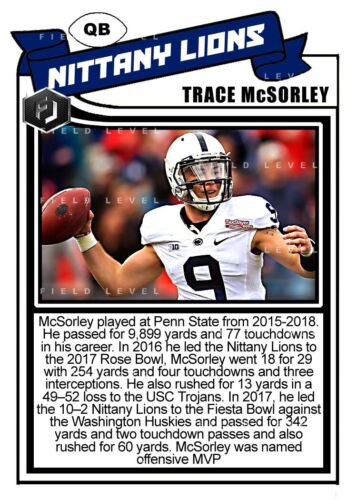 ACEO TRACE McSORLEY PENN STATE NITTANY LIONS CUSTOM HAND MADE ART CARD
