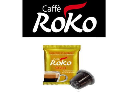 25 CAPSULE NESPRESSO CAFFÈ ROKO MISCELA GUSTI VARI CLASSICO GOLD TOP DEK BIO