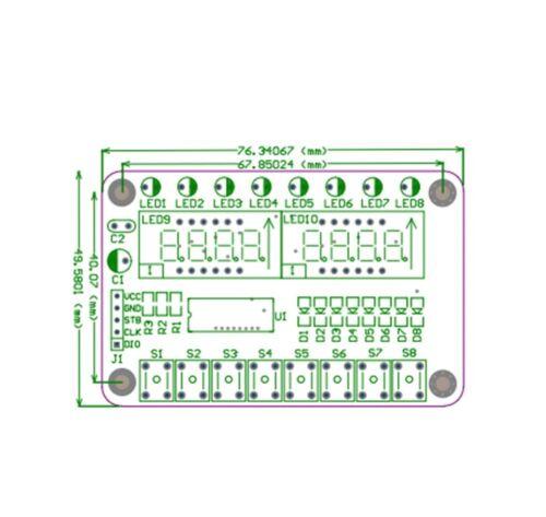 TM1638 Module Key Display 8-Bit Digital LED Tube for AVR Arduino