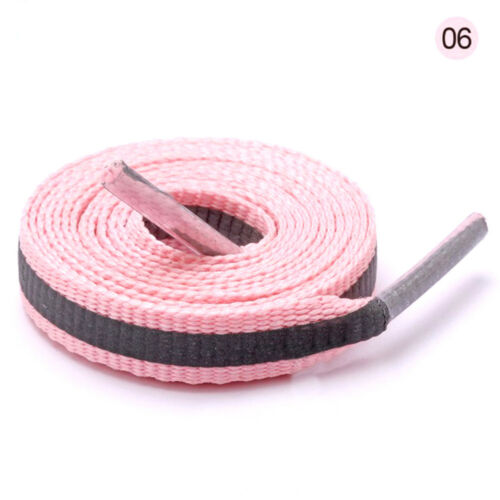 8 mm Wide Flat Shoelace Shoelaces Gradient cord f Sneakers color Many Length