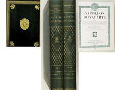 C1 Bourguignon NAPOLEON BONAPARTE 1936 Complet 2 Volumes RELIURE EVOCATRICE