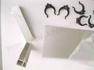 Zoccolo per mobile cucina alluminio h cm 15 x 2metri 1angolo 5molle battiscopa ebay - Zoccolo per cucina ...