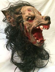 zombie werwolf maske latex halloween kost m wolf knurren hund ebay. Black Bedroom Furniture Sets. Home Design Ideas