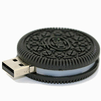 Mini Oreo Cookie USB 2.0 Memory Stick Flash pen Drive 4GB 8GB 16GB 32GB BP144
