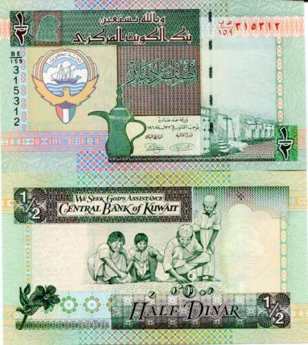 KUWAIT 1//2 0.5 DINAR 1994 P 24 NEW 2014 SIGN UNC