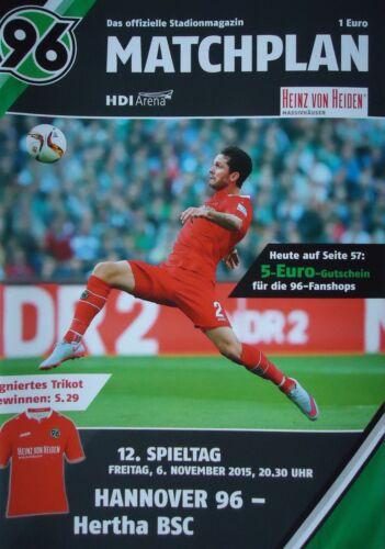 Programm 2015//16 Hannover 96 Hertha BSC