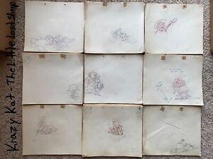 LOT OF 4 Harry Love Krazy Kat 1939 Lost Sheep Cartoon Animation Drawing Cel Art