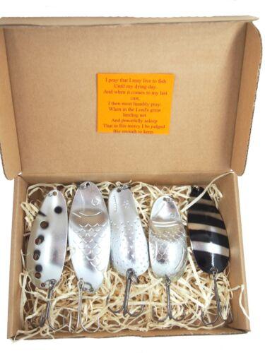 Lure Fishing Spoon  Spinner Bait Box Perch Tackle Bass Metal Handmade