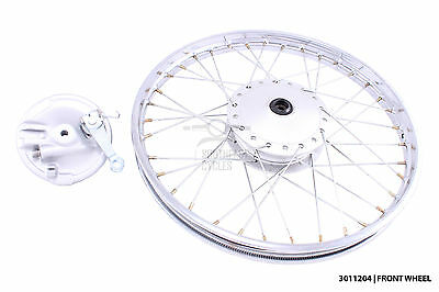 New front wheel and brake plate for honda C50 C70 C90 C100 with 10mm spindle