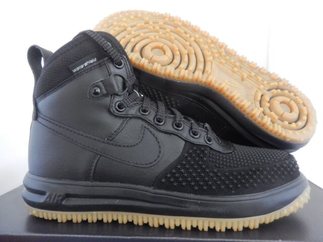 new style 2fd52 22930 NIKE LUNAR FORCE 1 DUCKBOOT BLACK-GUM BROWN SZ 8 RARE!!  805899