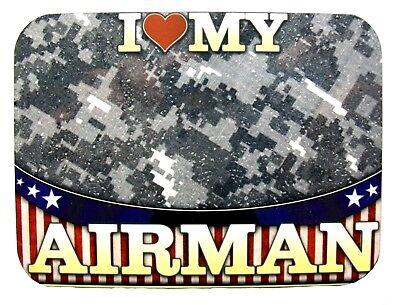 I Love America Heart Flag Fridge Magnet