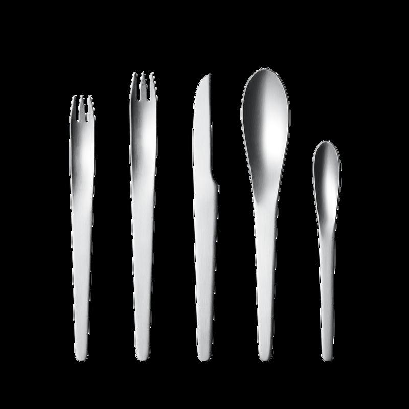Arne Jacobsen par Georg Jensen en acier inoxydable Coutellerie 5 pièces Place Setting nouveau