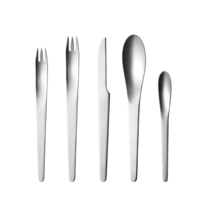 Arne Jacobsen by Georg Jensen Stainless Steel Flatware Set For 12 Service New