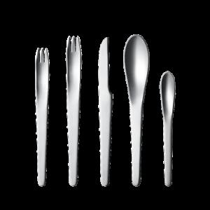 Arne-Jacobsen-by-Georg-Jensen-Stainless-Steel-Flatware-5-Piece-Place-Setting-New