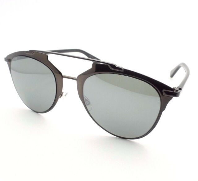 1af8d3a36fd Dior Sunglasses Reflected M2psf Black Brown Metallic Gray Mirror Authentic