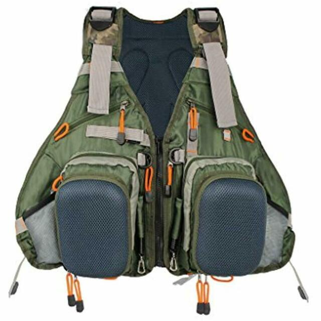 Adult Fly Fishing Backpack Vest Combo Chest Pack for Tackle Gear and Accessories