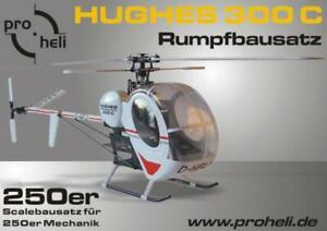 Scale-Rumpfbausatz-Fuselage-Kit-034-Hughes-300-034-fuer-den-T-Rex-250-und-andere-250