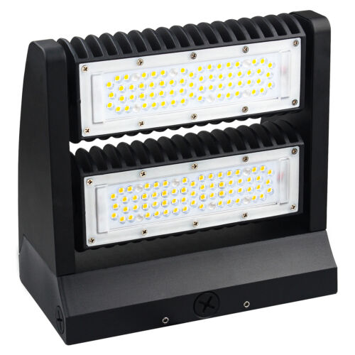 80W Rotatable LED Wall Pack Light Adjustable Head Outdoor Area Security Lighting