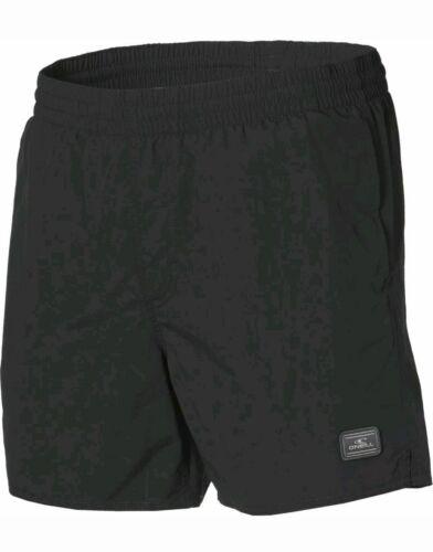 O /'Neill Homme Noir Solide Board Plage Shorts De Bain Petit BNWT