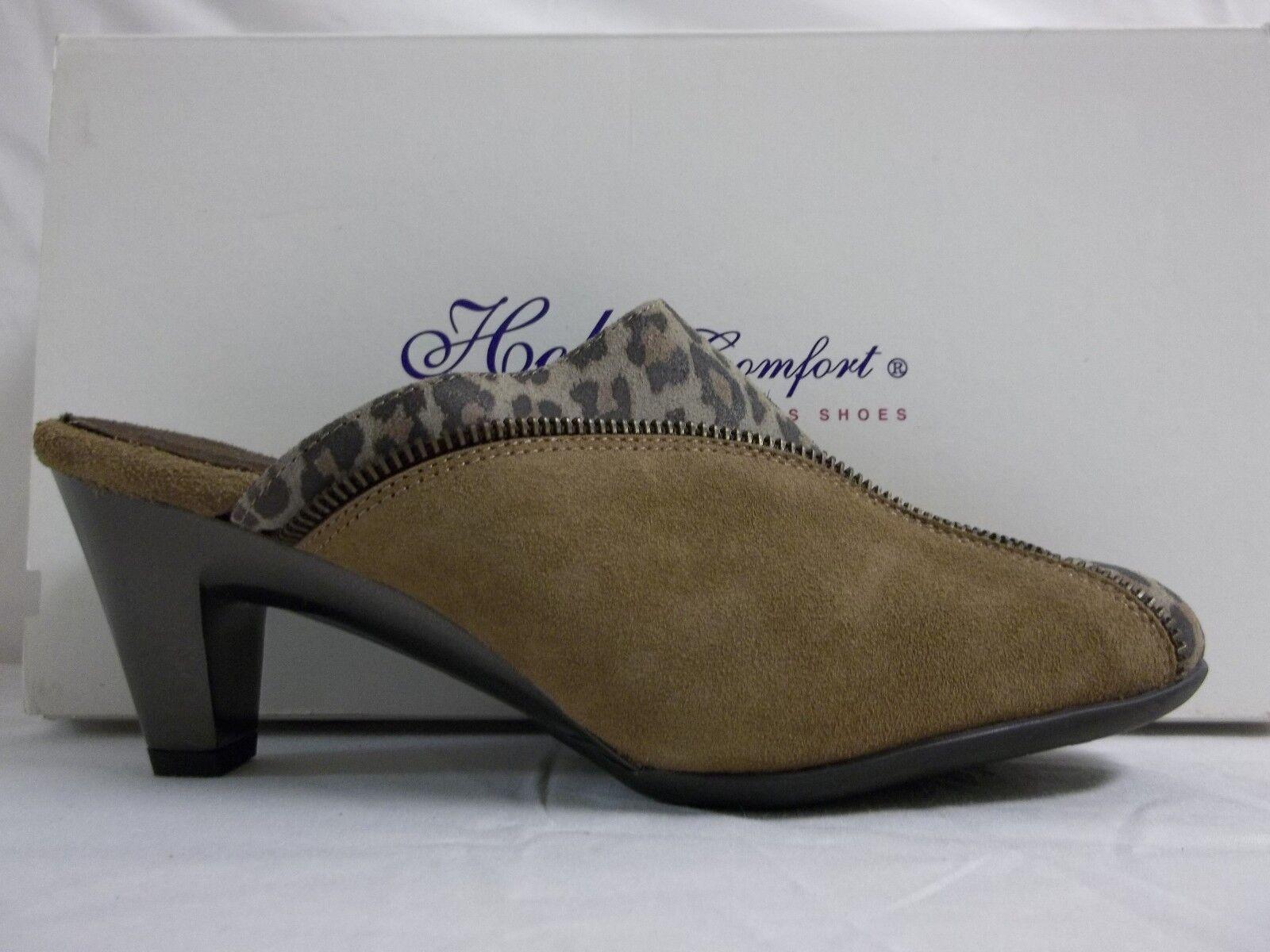 Helle 6.5 Comfort EU 37 nos 6 6.5 Helle Emily Cognac Cuero Zapatos De Tacón Zuecos Nuevos Mujer Zapatos 95e337