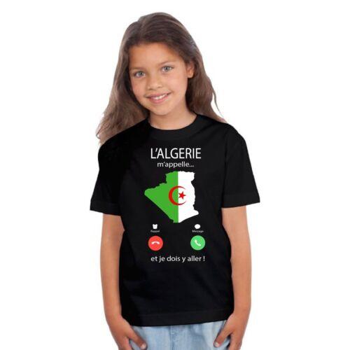 T-shirt ENFANT FILLE L/'ALGERIE M/'APPELLE...