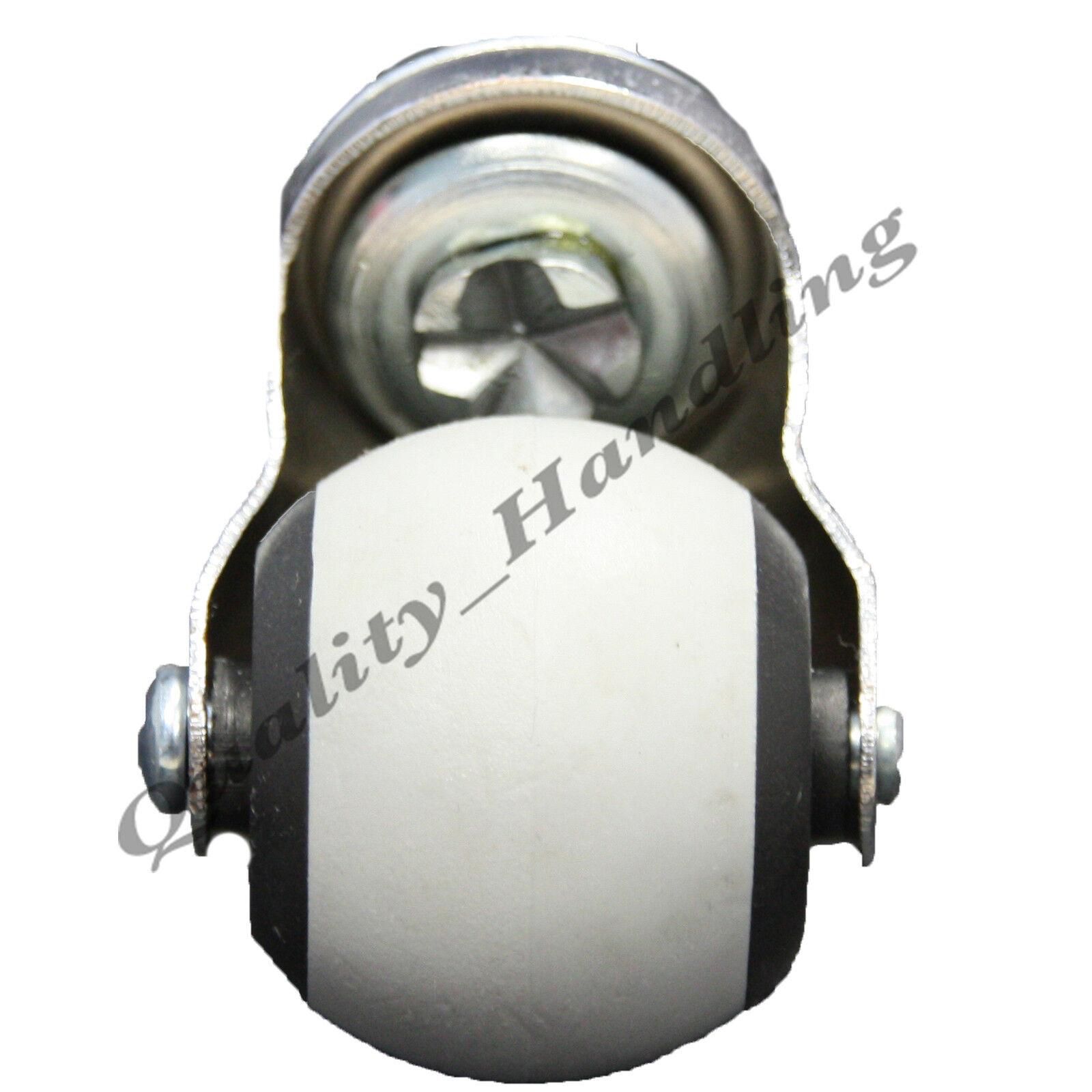 s l1600 - 4 - 40mm Muebles ruedas giratorias - goma suave M10 rosca para madera baldosa